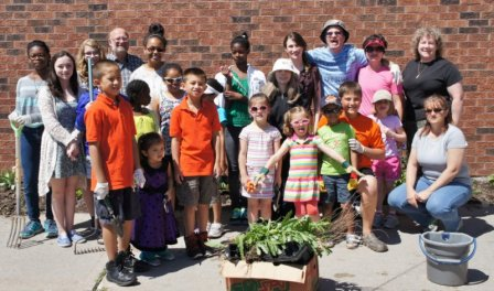 Sunday school gardeners 2014